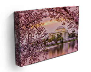 Tidal Basin and Jefferson Memorial cherry blossom season Canvas Print or Poster - Canvas Art Rocks - 3