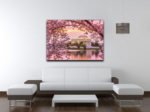 Tidal Basin and Jefferson Memorial cherry blossom season Canvas Print or Poster - Canvas Art Rocks - 4