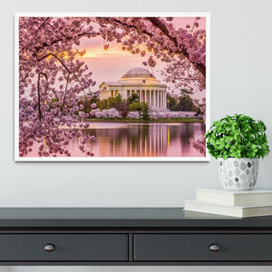 Tidal Basin and Jefferson Memorial cherry blossom season Framed Print - Canvas Art Rocks -6