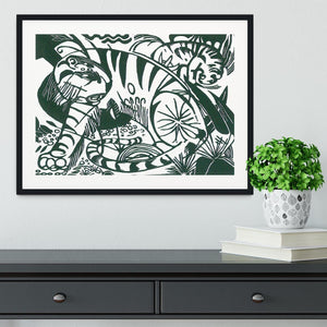 Tiger by Franz Marc Framed Print - Canvas Art Rocks - 1