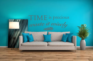 Time Is Precious Wall Decal - Canvas Art Rocks - 1
