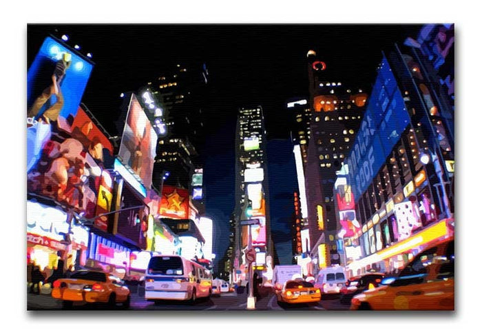 Times Square at Night Canvas Print or Poster