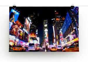 Times Square at Night Print - Canvas Art Rocks - 2