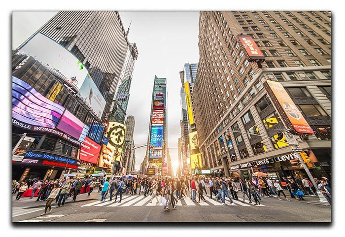 Times Square at sunset Canvas Print or Poster