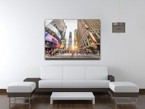 Times Square at sunset Canvas Print or Poster - Canvas Art Rocks - 4