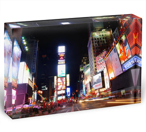 Times Square featured with Broadway Theaters Acrylic Block - Canvas Art Rocks - 1