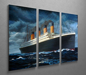 Titanic 3 Split Panel Canvas Print - Canvas Art Rocks