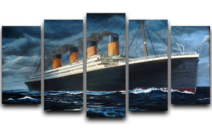 Titanic 5 Split Panel Canvas  - Canvas Art Rocks - 1