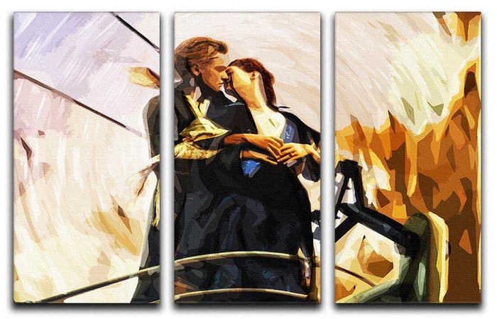 Titanic Jack And Rose 3 Split Panel Canvas Print