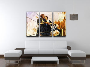 Titanic Jack And Rose 3 Split Panel Canvas Print - Canvas Art Rocks - 4