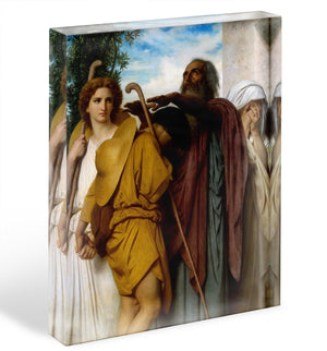 Tobias Saying Good-Bye to his Father By Bouguereau Acrylic Block - Canvas Art Rocks - 1