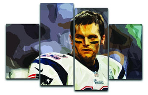 Tom Brady New England Patriots 4 Split Panel Canvas  - Canvas Art Rocks - 1