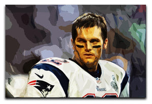 Tom Brady New England Patriots Canvas Print - Canvas Art Rocks - 1