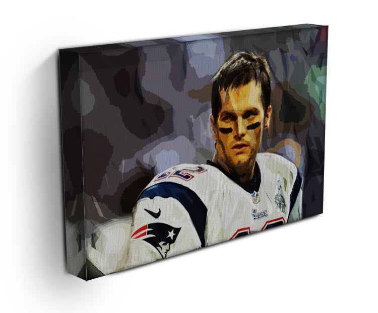 Tom Brady New England Patriots Canvas Print - Canvas Art Rocks - 3