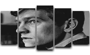 Tom Courtenay in 1961 5 Split Panel Canvas  - Canvas Art Rocks - 1