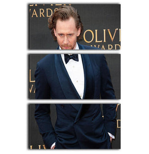 Tom Hiddlestone 3 Split Panel Canvas Print - Canvas Art Rocks - 1