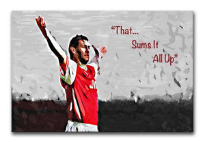 Tony Adams That Sums It All Up Print - Canvas Art Rocks - 1