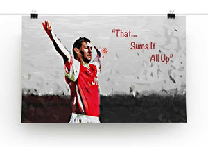 Tony Adams That Sums It All Up Print - Canvas Art Rocks - 2