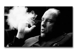 Tony Soprano Cigar Smoke Print - Canvas Art Rocks - 4