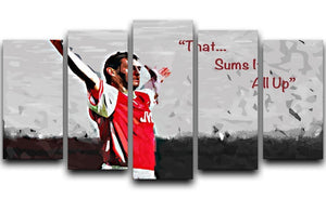 Tony Adams That Sums It All Up 5 Split Panel Canvas  - Canvas Art Rocks - 1