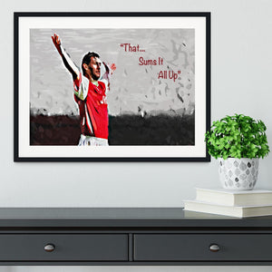 Tony Adams That Sums It All Up Framed Print - Canvas Art Rocks - 1