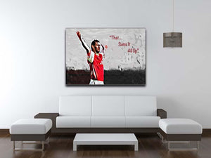 Tony Adams That Sums It All Up Canvas Print or Poster