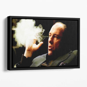 Tony Soprano Cigar Smoke Floating Framed Canvas