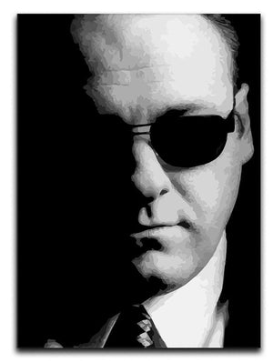 Tony Soprano Black And White Print - Canvas Art Rocks - 1