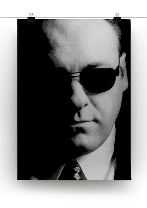 Tony Soprano Black And White Print - Canvas Art Rocks - 2