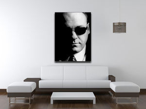 Tony Soprano Black And White Print - Canvas Art Rocks - 4