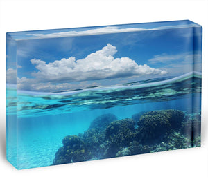 Top half with blue sky and cloud Acrylic Block - Canvas Art Rocks - 1