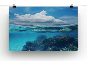 Top half with blue sky and cloud Canvas Print or Poster - Canvas Art Rocks - 2