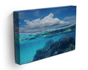 Top half with blue sky and cloud Canvas Print or Poster - Canvas Art Rocks - 3