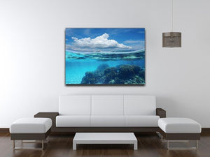 Top half with blue sky and cloud Canvas Print or Poster - Canvas Art Rocks - 4