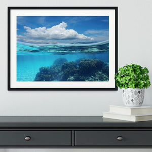 Top half with blue sky and cloud Framed Print - Canvas Art Rocks - 1