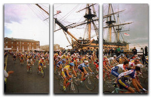Tour de France in Portsmouth 3 Split Panel Canvas Print - Canvas Art Rocks - 1