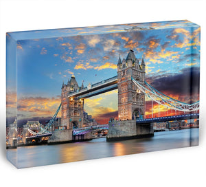 Tower Bridge Acrylic Block - Canvas Art Rocks - 1