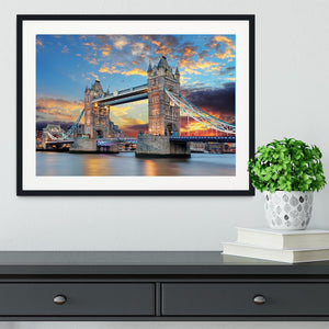 Tower Bridge Framed Print - Canvas Art Rocks - 1