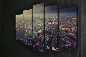 Tower Bridge in sunset time 5 Split Panel Canvas  - Canvas Art Rocks - 2