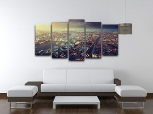 Tower Bridge in sunset time 5 Split Panel Canvas  - Canvas Art Rocks - 3