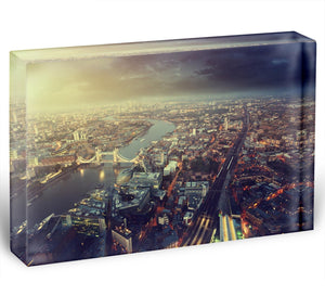 Tower Bridge in sunset time Acrylic Block - Canvas Art Rocks - 1