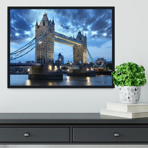 Tower Bridge in the evening Framed Print - Canvas Art Rocks - 2