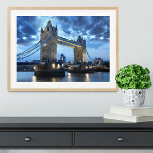 Tower Bridge in the evening Framed Print - Canvas Art Rocks - 3