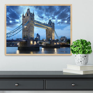 Tower Bridge in the evening Framed Print - Canvas Art Rocks - 4