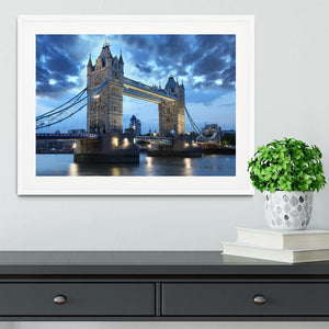 Tower Bridge in the evening Framed Print - Canvas Art Rocks - 5