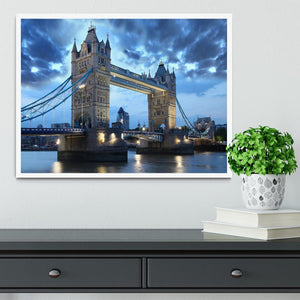 Tower Bridge in the evening Framed Print - Canvas Art Rocks -6