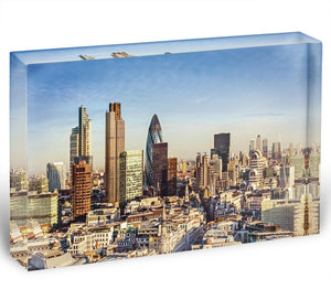 Tower Lloyds of London and Canary Wharf Acrylic Block - Canvas Art Rocks - 1