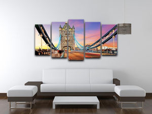 Tower bridge Motion 5 Split Panel Canvas  - Canvas Art Rocks - 3
