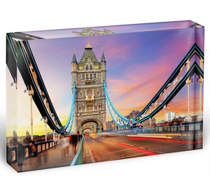 Tower bridge Motion Acrylic Block - Canvas Art Rocks - 1