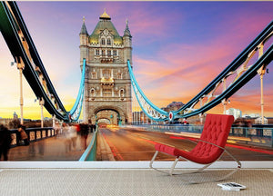 Tower bridge Motion Wall Mural Wallpaper - Canvas Art Rocks - 2